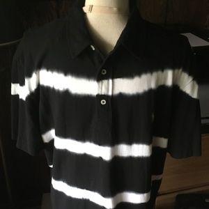 Polo Ralph Lauren Mesh Black & White Tie Dyed Polo